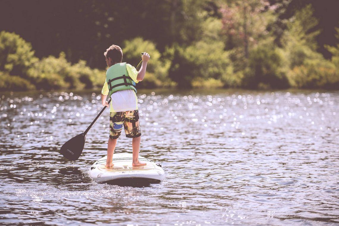 activité nautique avec des enfants